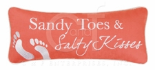 "Pillow - ""Sandy Toes & Salty Kisses Embroidered Pillow"""