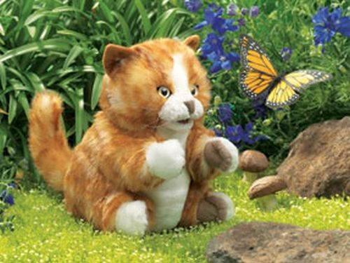 "Puppet - ""Orange Tabby Cat Hand Puppet"""