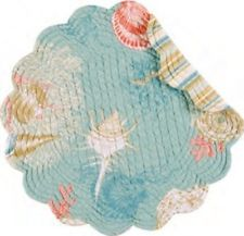 """Quilted Round Placemat - """"Santa Catalina"""""""
