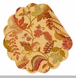 """Quilted Round Reversible Placemat - """"Henley"""""""