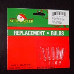 "Replacement Bulbs  - ""Extra Bright Clear Bulbs for 10 Light Strings"""