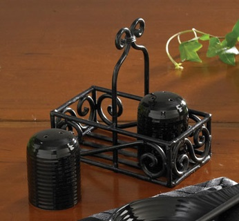 "Salt & Pepper Shaker Caddy- ""Black Salt & Pepper Shaker Caddy"""