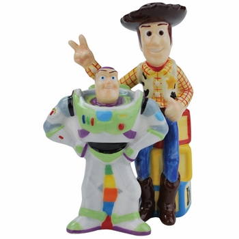 "Salt & Pepper Shakers - ""Buzz & Woody Magnetic Salt & Pepper Shakers"
