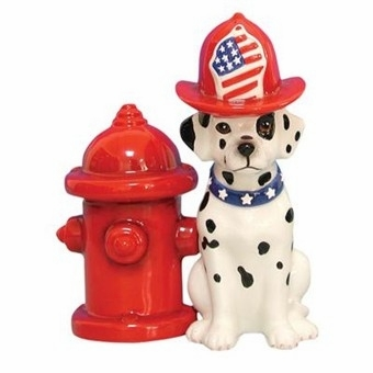 "Salt & Pepper Shakers - ""Dalmation & Fire Hydrant Magnetic Salt & Pepper Shakers"""