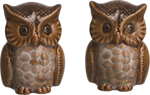 "Salt & Pepper Shakers - ""Harvest Owl"""