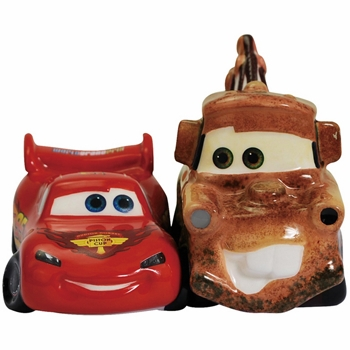 "Salt & Pepper Shakers - ""Lightning McQueen & Mater Magnetic Salt & Pepper Shakers"""