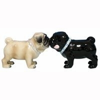 "Salt & Pepper Shakers - ""Mwah! Pugs Magnetic Salt & Pepper Shakers"""