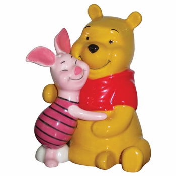 "Salt & Pepper Shakers - ""Pooh & Piglet Hug Magnetic Salt & Pepper Shakers"""
