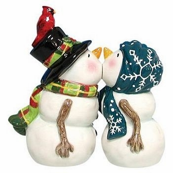 "Salt & Pepper Shakers - ""Snow People Magnetic Salt & Pepper Shakers"""
