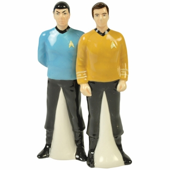 "Salt & Pepper Shakers - ""Spock & Captain Kirk Magnetic Salt & Pepper Shakers"""