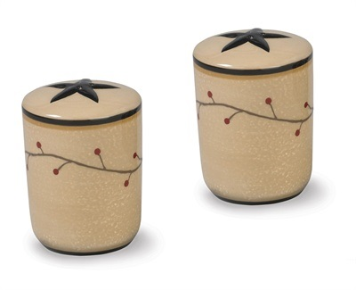 "Salt & Pepper Shakers - ""Star Vine Set"""