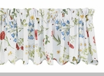 "Scalloped Valance - ""Wildflower Scalloped Edge Valance"" - 72"" x 14"""