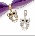 "Scarf Accent - ""Owl Slider Pendant"""