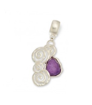 "Scarf Accent - ""Purple Bead Slider Pendant"""