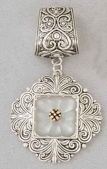 "Scarf Accent - ""Silver Slider Pendant"""