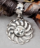 "Scarf Accent  - ""Stone with Swirl Scarf  Pendant"""