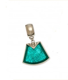 "Scarf Accent - ""Teal Stone Slider Pendant"""