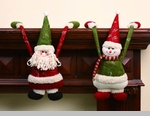 "Shelf Hanger - ""Santa Or Snowman Shelf Hanger"""