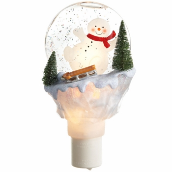"Shimmer Night Light - ""Sledding Snowman Shimmer Night Light"""
