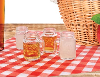 "Shot Glass - ""Mason Jar Shot Glasses"" - Set of 4"