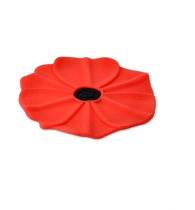 "Silicone Coaster - ""Red Poppy Coaster"""