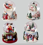 "Snowglobe - ""Santa And Snowman Wind-Up Snowmotion  Musical Waterglobes"""