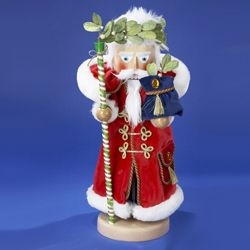 "Steinbach Nutcracker  - ""Mistletoe Santa"" - 4th  in the Christmas Traditions Series - Limited Edition of 5,000 pcs"