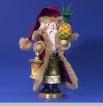 "Steinbach Nutcracker  - ""Santa with Pineapple Nutcracker"" -  3rd in the Christmas Traditions Series - Limited Edition of 5,000"
