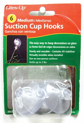 """Suction Cups  -  """"#3 Medium Suction Cups"""" - Pack of 6"""
