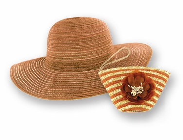 """Sun Lily Hat - """"Brown Sun Hat & Tote"""""""