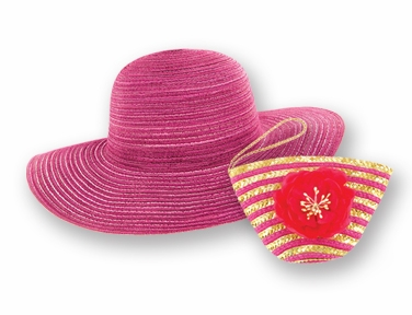 """Sun Lily Hat - """"Pink Sun Hat & Tote"""""""