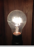 Super Long-Lasting Incandescent Light Bulb - 25W Clear - A19 - Lasts 10,000 Hours!