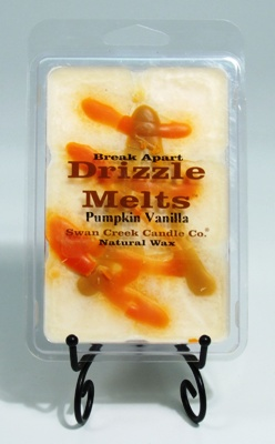 """Swan Creek Candle Drizzle Melts Pack of 6 cubes - """"Pumpkin Vanilla"""""""