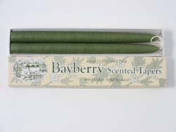 "Tapered Candles  -  ""Bayberry"" - Boxed Pair - 10""  - Great Gift!"
