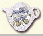 "Tea Bag Holder - ""Blue Hydrangea"""