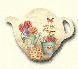 "Tea Bag Holder - ""Garden Passion"""