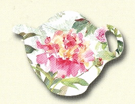 "Tea Bag Holder - ""Peony"""