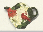 "Tea Bag Holder - ""Poinsettia"""