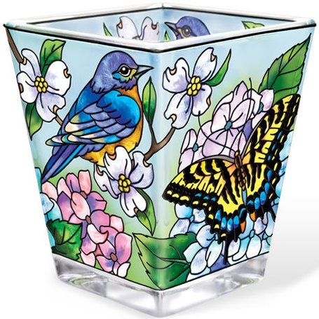 "Tea Light Holder - ""Blue Birds Tea Light Holder"""