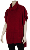"""Top - """"Cowl Neck Top - Red"""""""