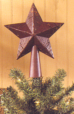 "Tree Topper  - ""Red Star Tree Topper"" - 7"""