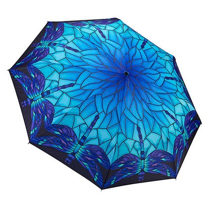 "Umbrella - ""Stained Glass Dragonfly Unbreakable Umbrella"""