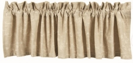"Valance - ""Candlewick Valance"" - 72"" x 15.5"" - Taupe"