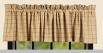 "Valance  - ""Kingston Check Valance""  - 72"" x 15.5"""
