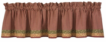 "Valance - ""Mill Village Valance"" - 72"" x 14"""