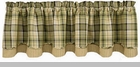 "Valance  - ""Oak Grove Lined Layered Valance"""