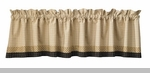 "Valance - ""Peppermill Lined Border Valance"" - 72"" x  14"""