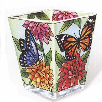 "Votive Holder - ""Butterfly Garden Votive Holder"""