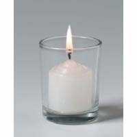 "Votive Holder  - ""Clear Glass Votive Holder"""