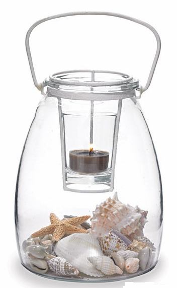 "Votive Holder - ""Glass Jar With Votive Holder"""